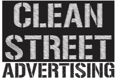 clean street advertising company logo design